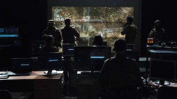 military control room consoles